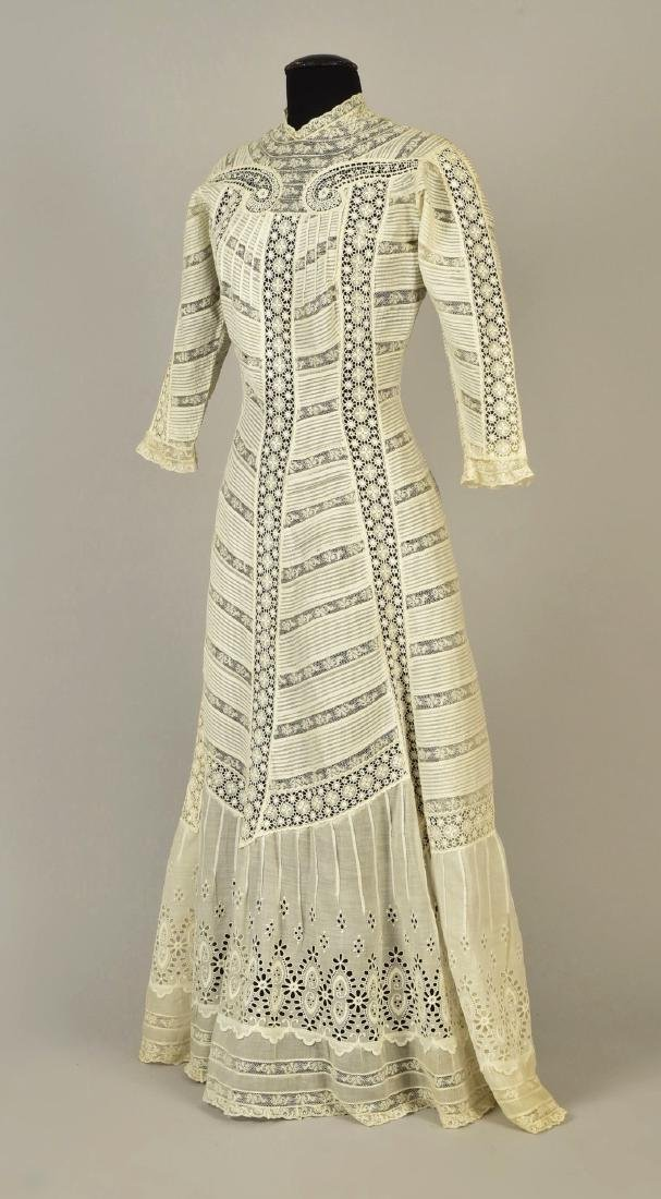 PRINCESSLINE VOILE and LACE DRESS, 1908