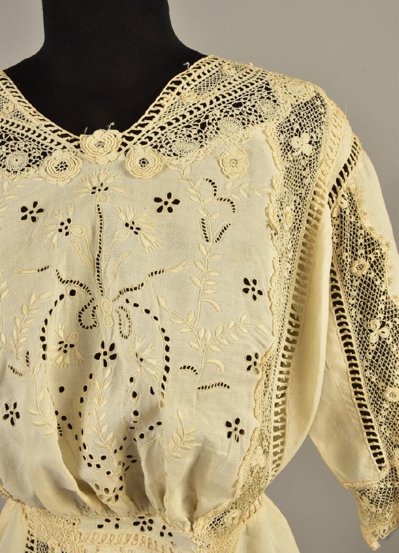 CUTWORK LINEN GOWN with IRISH CROCHET, 1908 - 1910 - 3