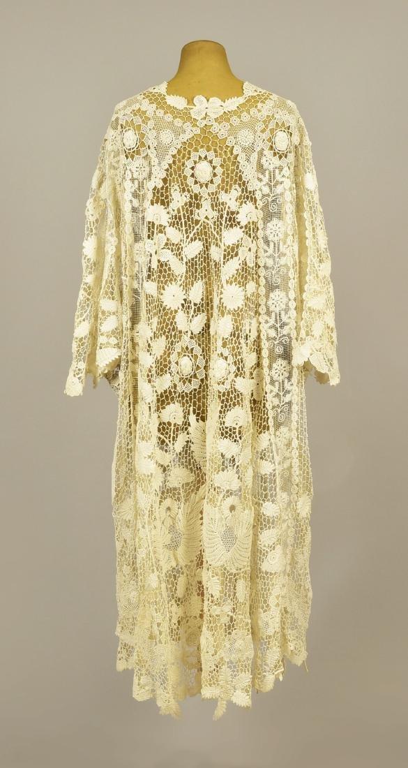 WHITE IRISH CROCHET LACE COAT, 1910 - 2