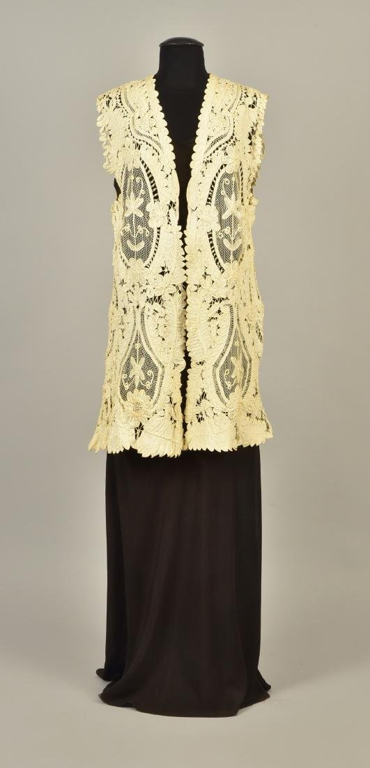 SLEEVELESS TAPE LACE JACKET, c. 1908