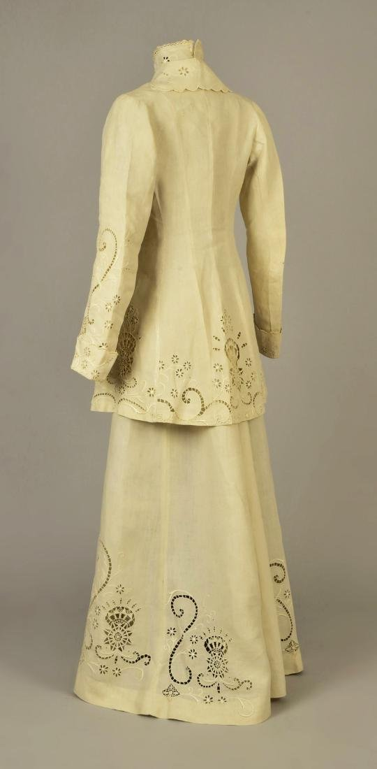 CUTWORK LINEN 3-PIECE WALKING SUIT, 1908 - 2