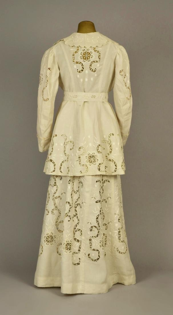 CUTWORK LINEN WALKING SUIT, 1912 - 2