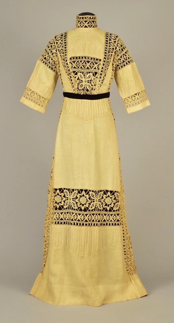LINEN DRESS and JACKET with CLUNY LACE, 1910 - 1912 - 2