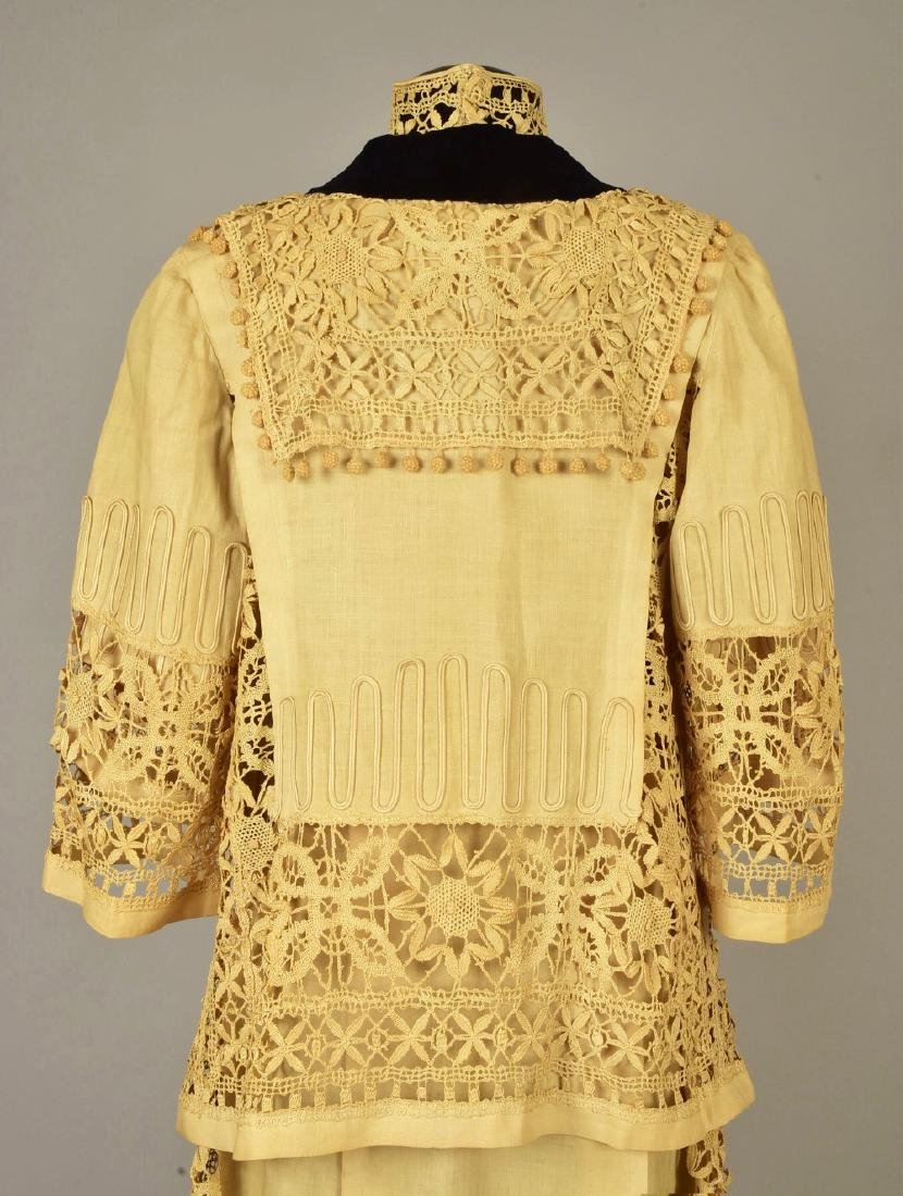 LINEN DRESS and JACKET with CLUNY LACE, 1910 - 1912 - 4