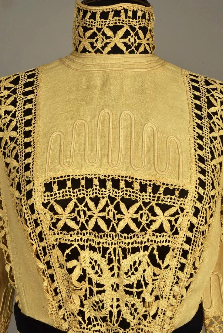 LINEN DRESS and JACKET with CLUNY LACE, 1910 - 1912 - 6