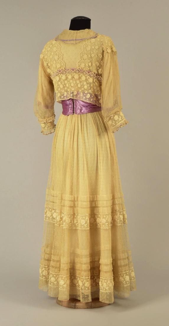 LACE and NET DRESS with LILAC TRIM, 1916 - 2
