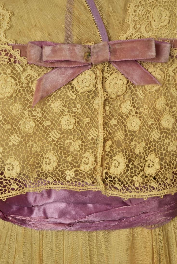 LACE and NET DRESS with LILAC TRIM, 1916 - 3
