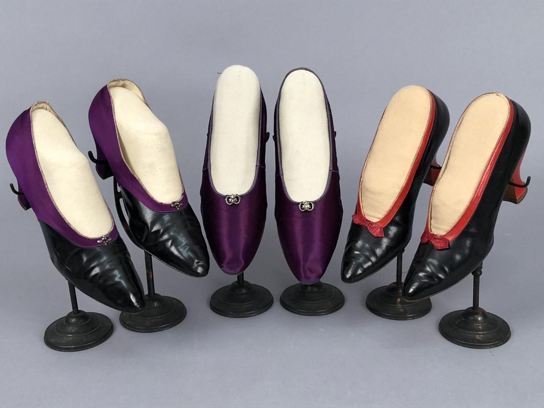THREE PAIR HEELED PUMPS, 1912 - 1920