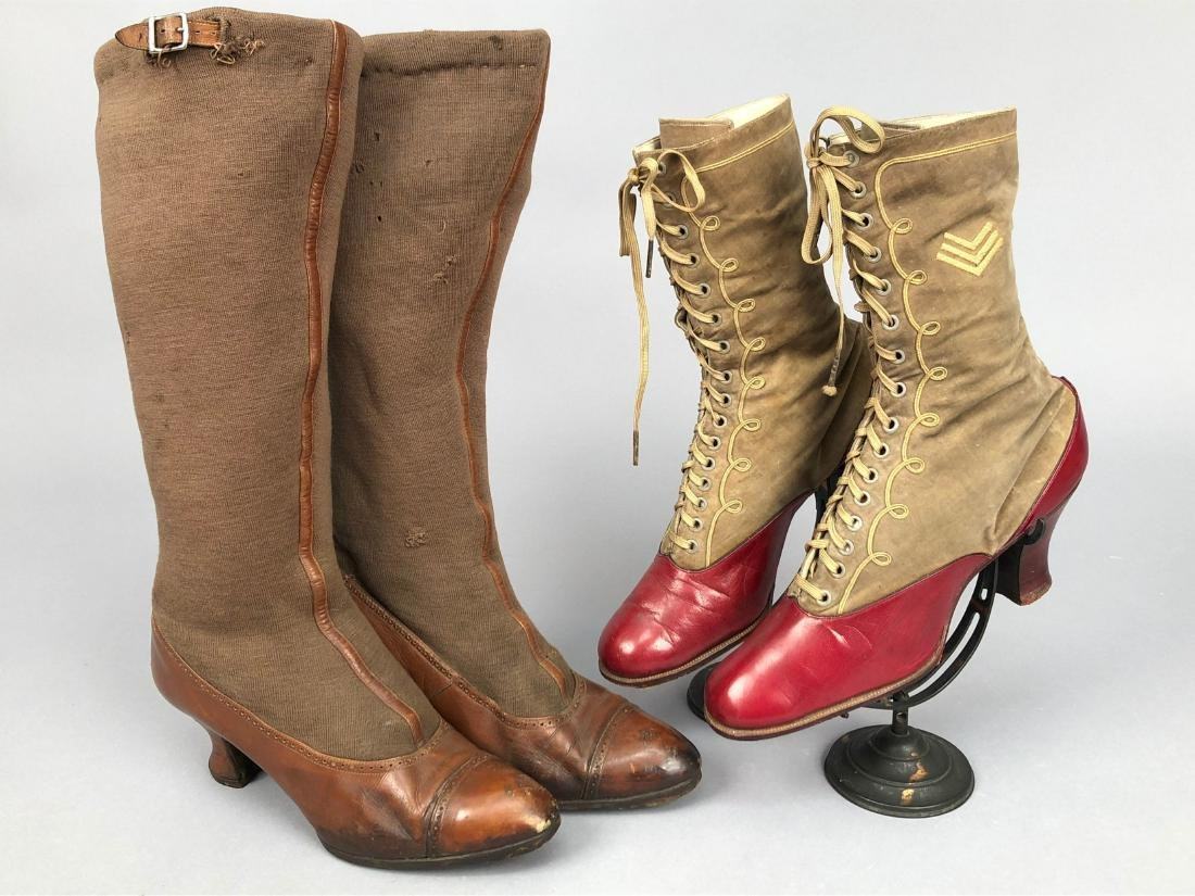 TWO PAIR LADIES' BOOTS, 1914 - 1917