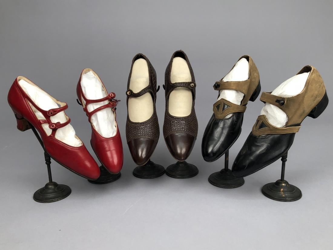 THREE PAIR LADIES' SHOES, 1910 - 1930