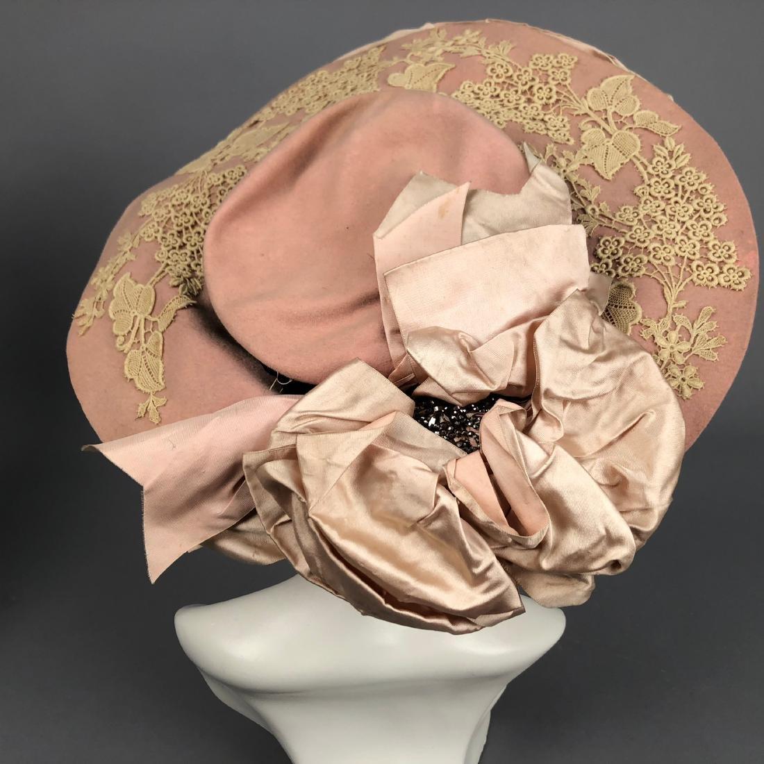 THREE WIDE-BRIM HATS, 1902 - 1910 - 3