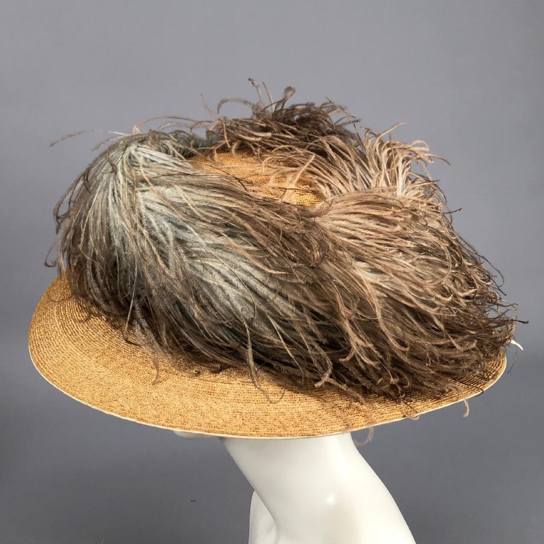 FOUR WIDE-BRIM STRAW HATS, 1905 - 1915 - 5