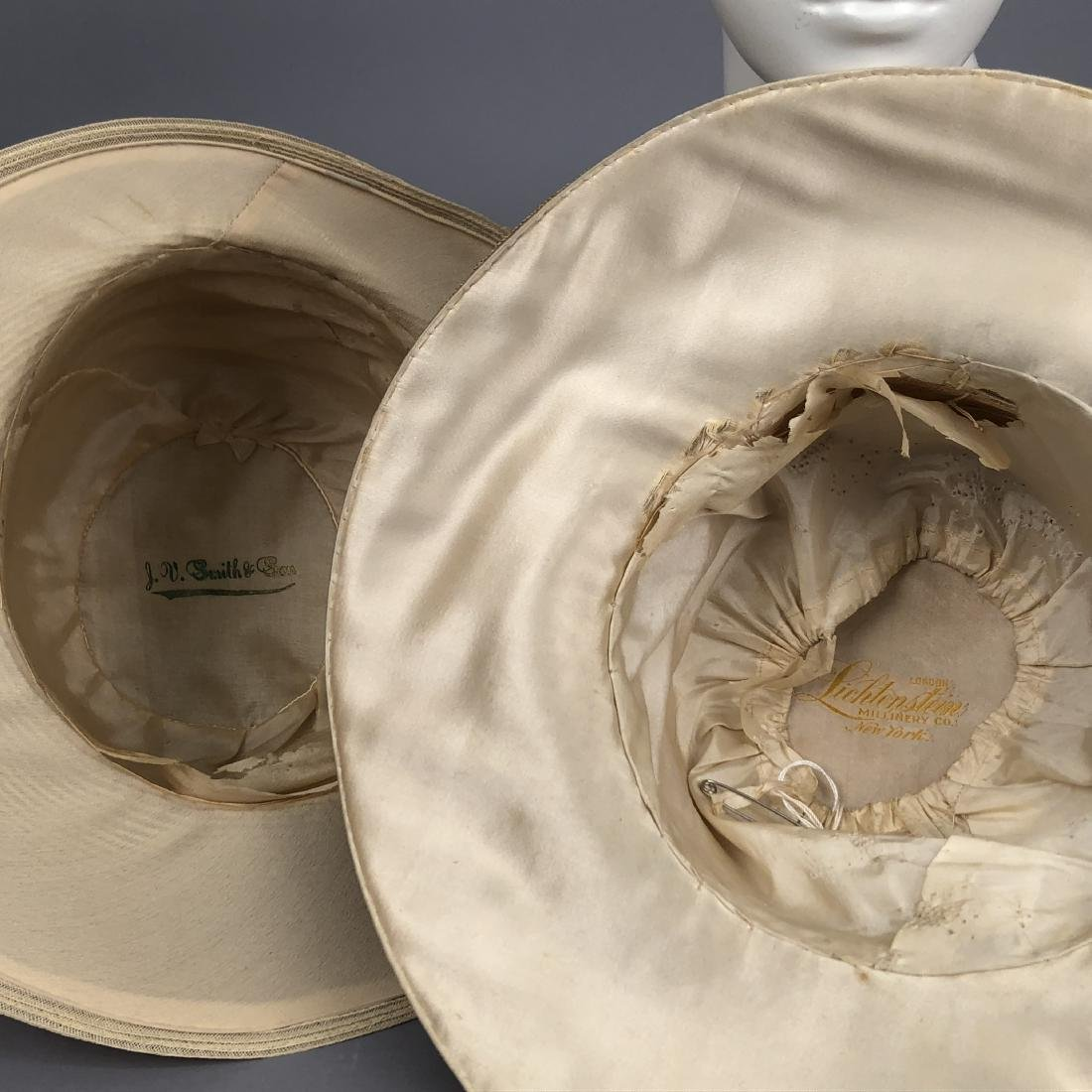 FOUR WIDE-BRIM STRAW HATS, 1905 - 1915 - 6