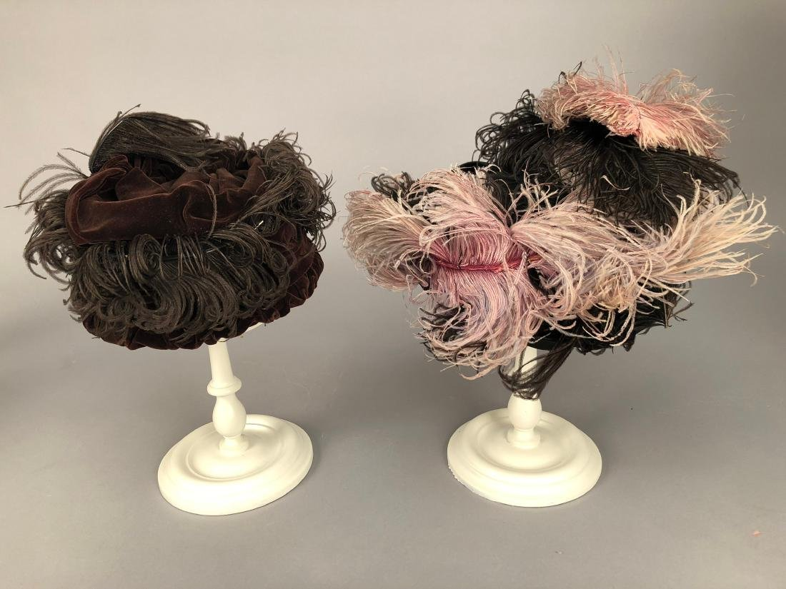FOUR HATS with FEATHERS, 1904 - 1915 - 2