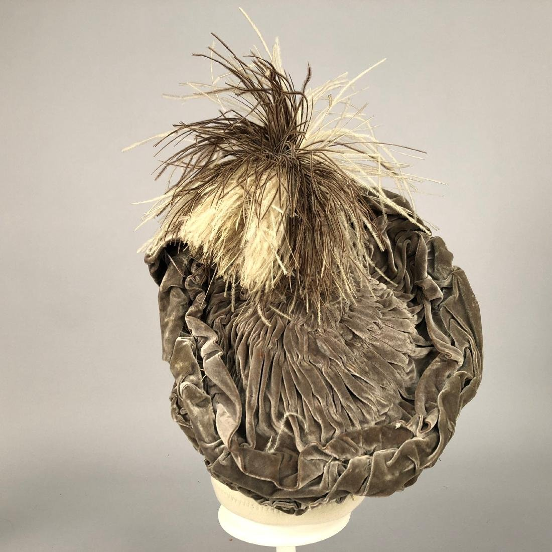 FOUR HATS with FEATHERS, 1904 - 1915 - 3