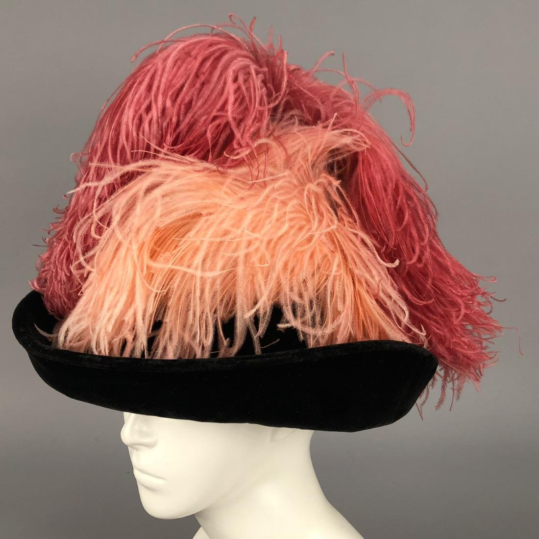 FOUR HATS with FEATHERS, 1904 - 1915 - 4