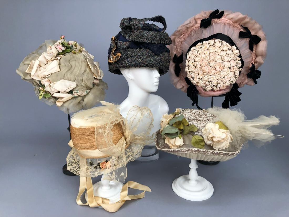 FIVE SUMMER HATS, 1904 - 1915