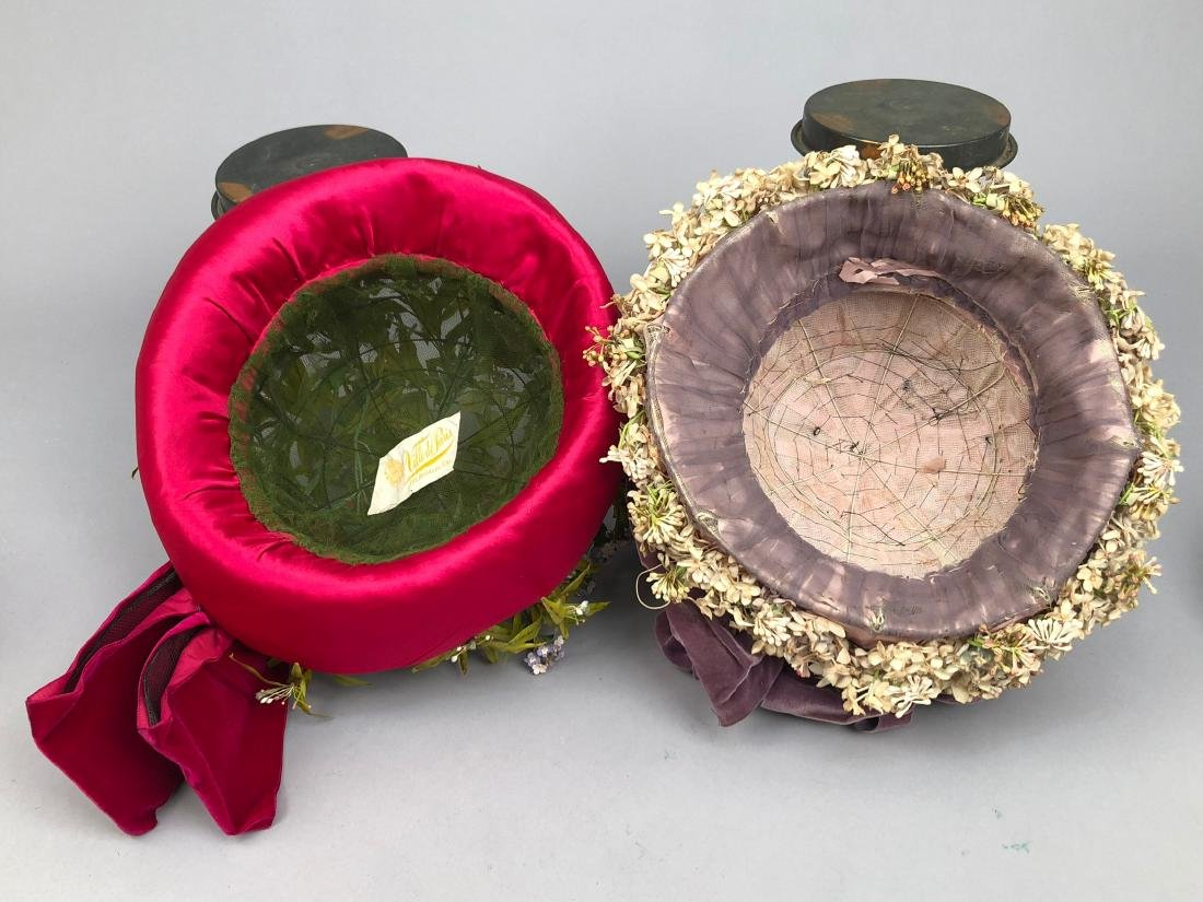 TWO FLOWER-COVERED HATS with TURNED-UP BRIM, 1912 - - 4