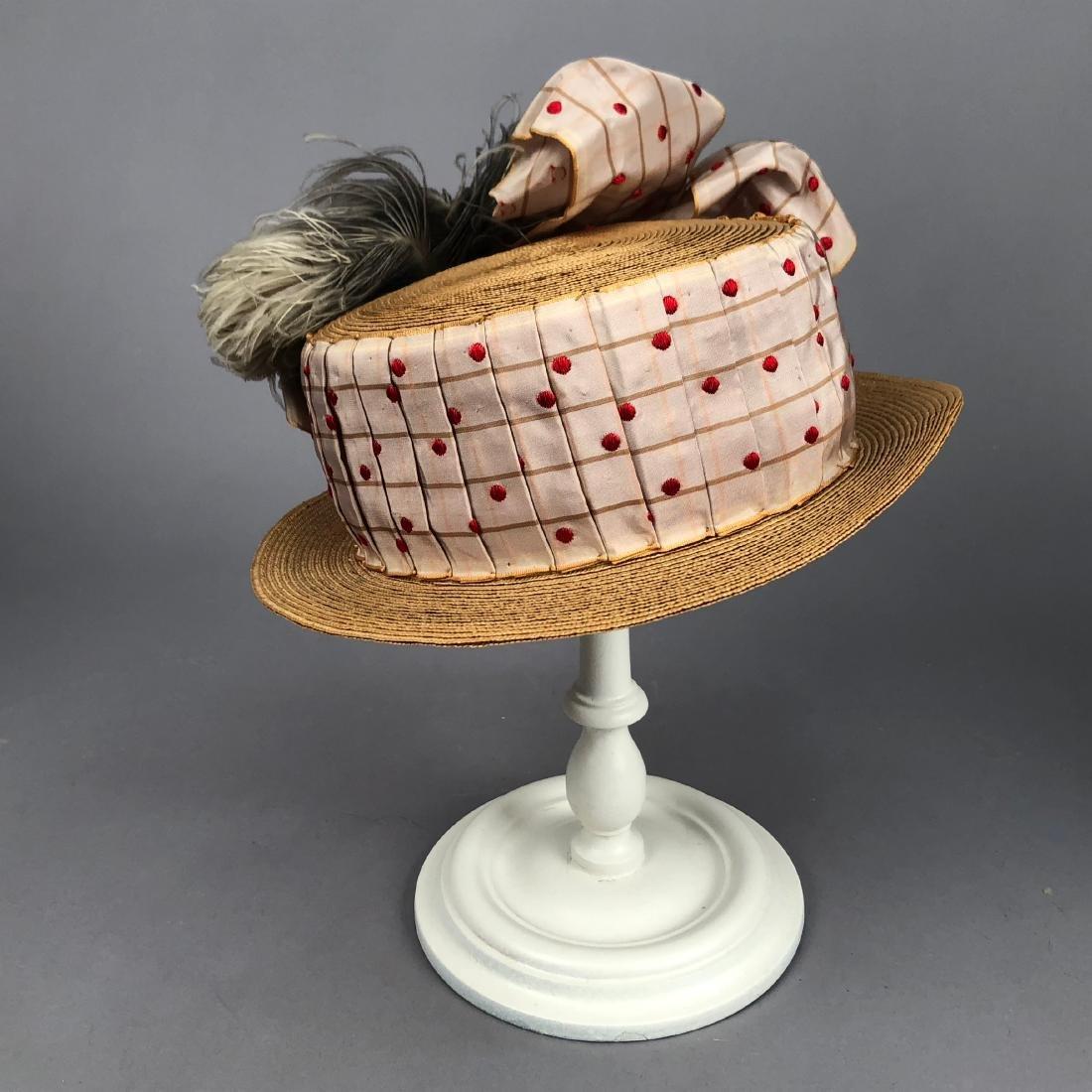TWO WIDE-BRIM STRAW HATS, 1905 - 1915 - 3