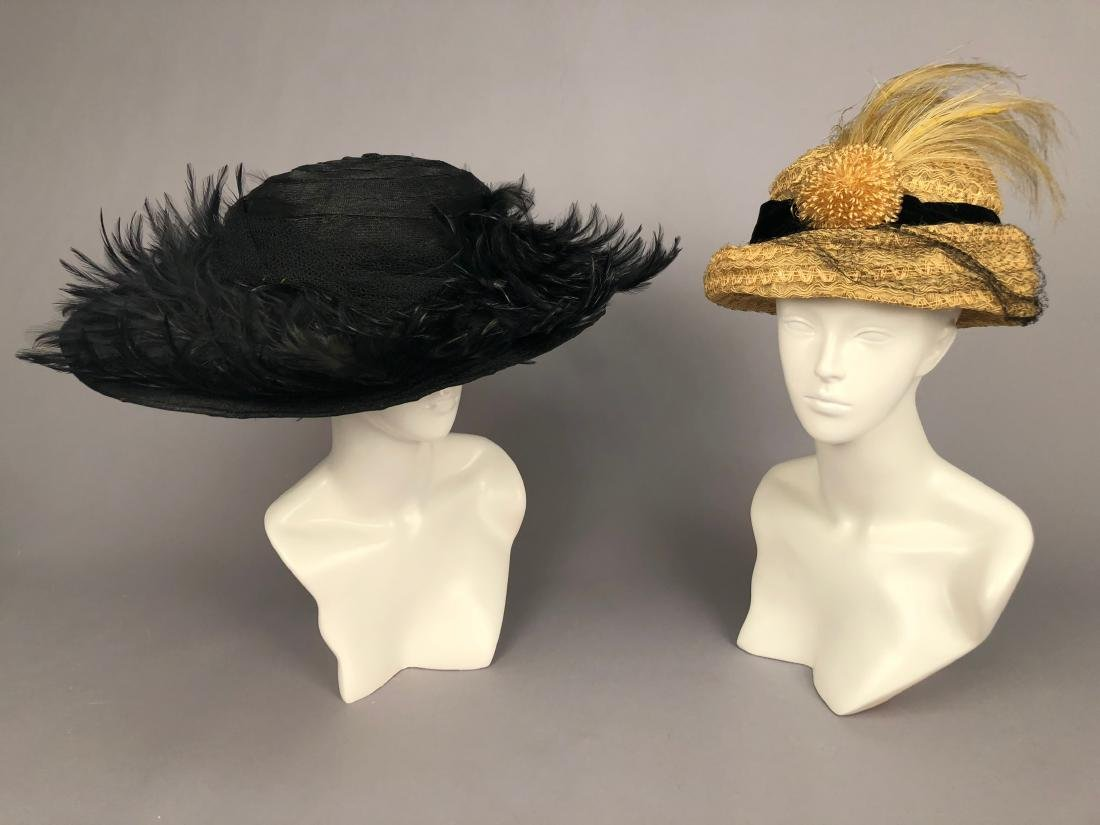 TWO HORSEHAIR HATS, c. 1912