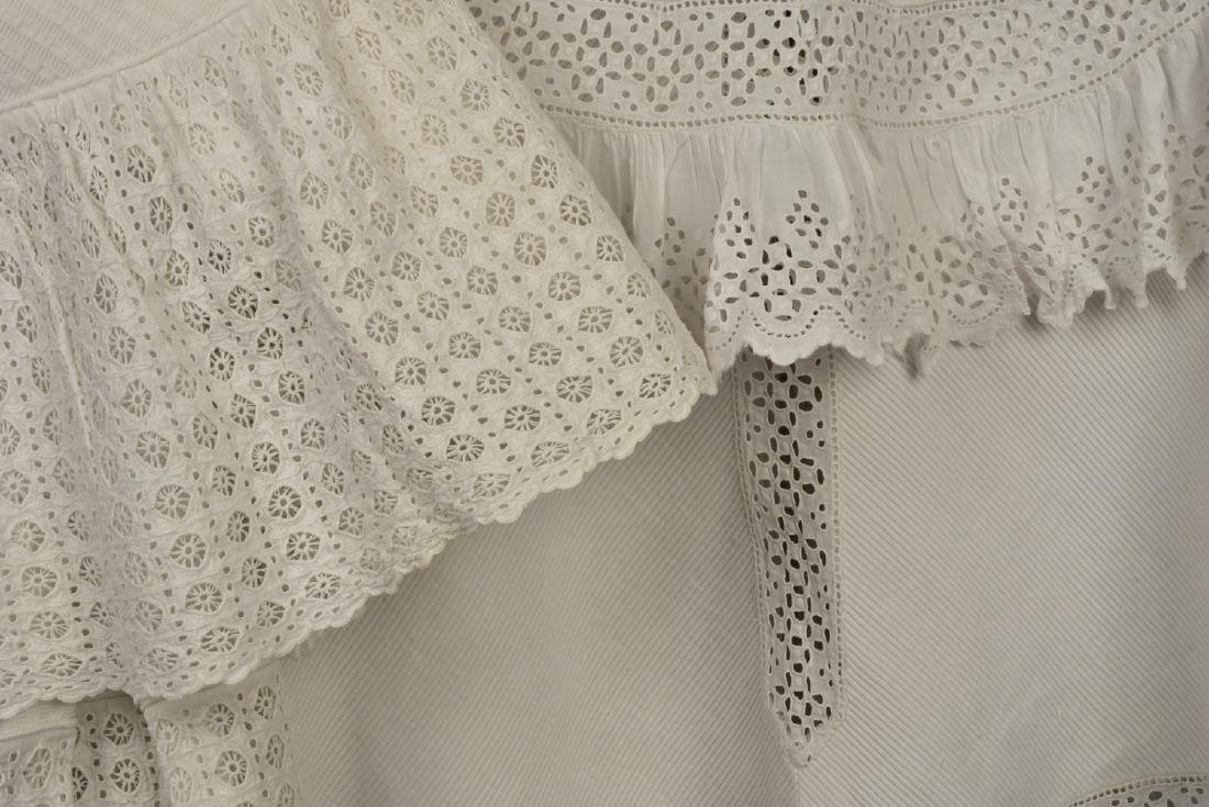 THREE CHILDREN'S WHITE COTTON COATS, c. 1900 - 4