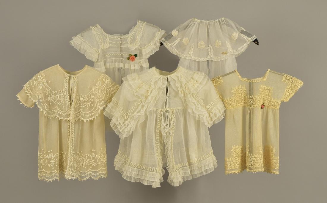 FIVE CHILDRENS WHITE NET GARMENTS,  1910 - 1912