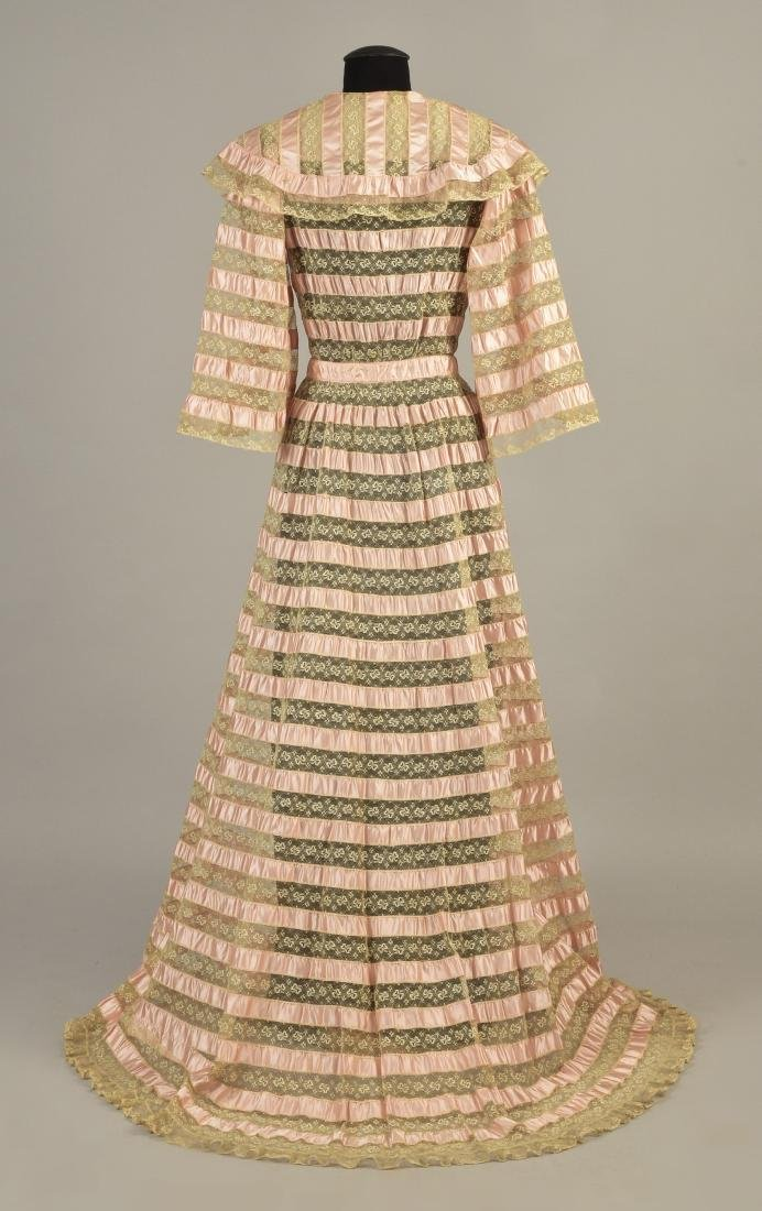 TRAINED RIBBON and LACE DRESSING GOWN, 1900 - 2