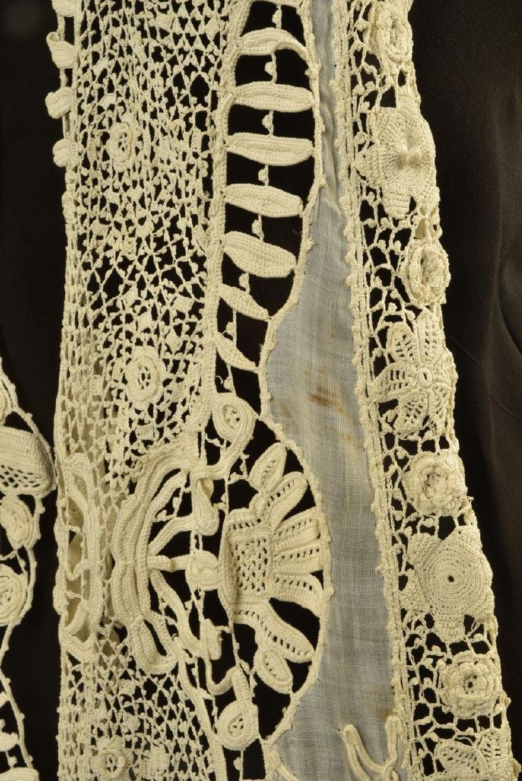 SILK GOWN with CUTWORK MUSLIN and LACE DESHIBILLE, c. - 5
