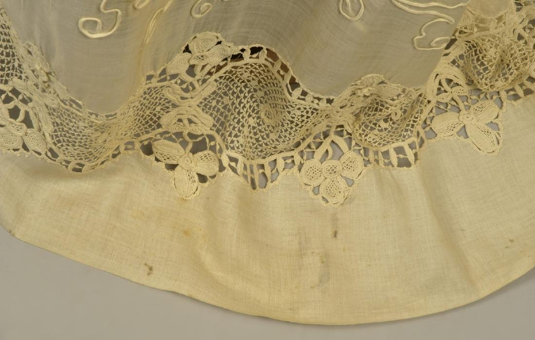 SILK GOWN with CUTWORK MUSLIN and LACE DESHIBILLE, c. - 6