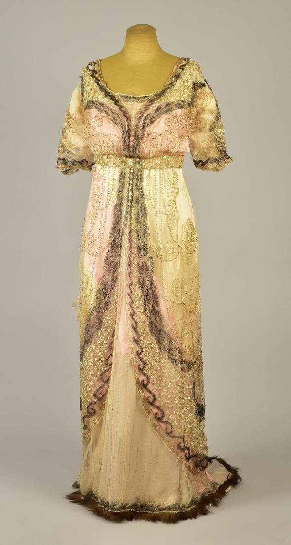 DOUCET EVENING GOWN, attributed to JULIA BUTTERFIELD,