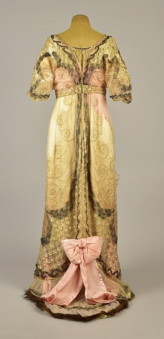 DOUCET EVENING GOWN, attributed to JULIA BUTTERFIELD, - 2