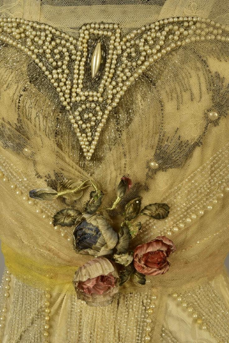 BEADED NET EVENING GOWN, possibly LUCILE, c. 1914 - 4