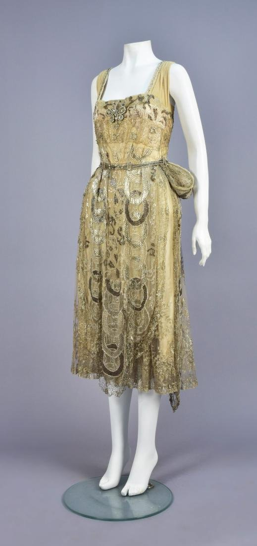 CALLOT SOEURS BEADED NET DRESS, WINTER 1916 - 1917