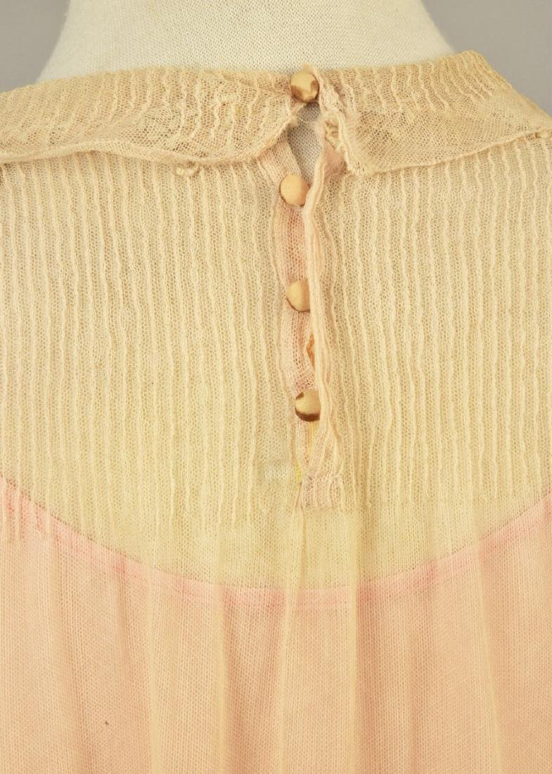 BOUE SOEURS GIRL'S EMBROIDERED NET DRESS, 1920s - 2