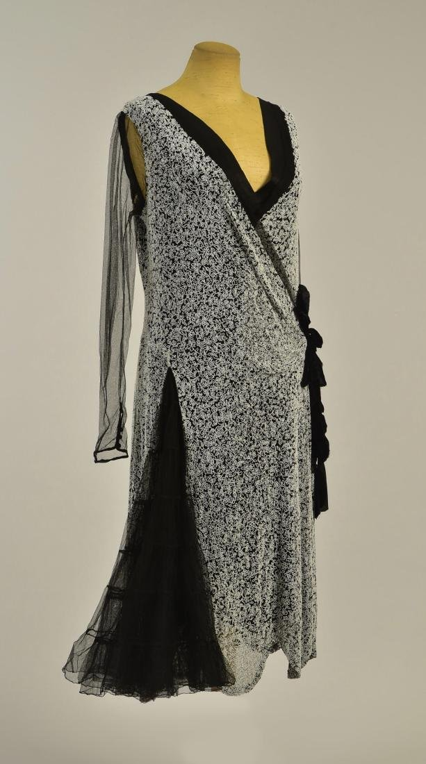 BEADED SATIN GOWN, c. 1927