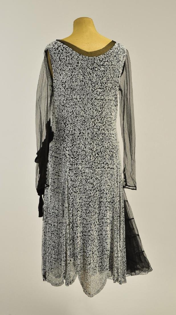BEADED SATIN GOWN, c. 1927 - 2