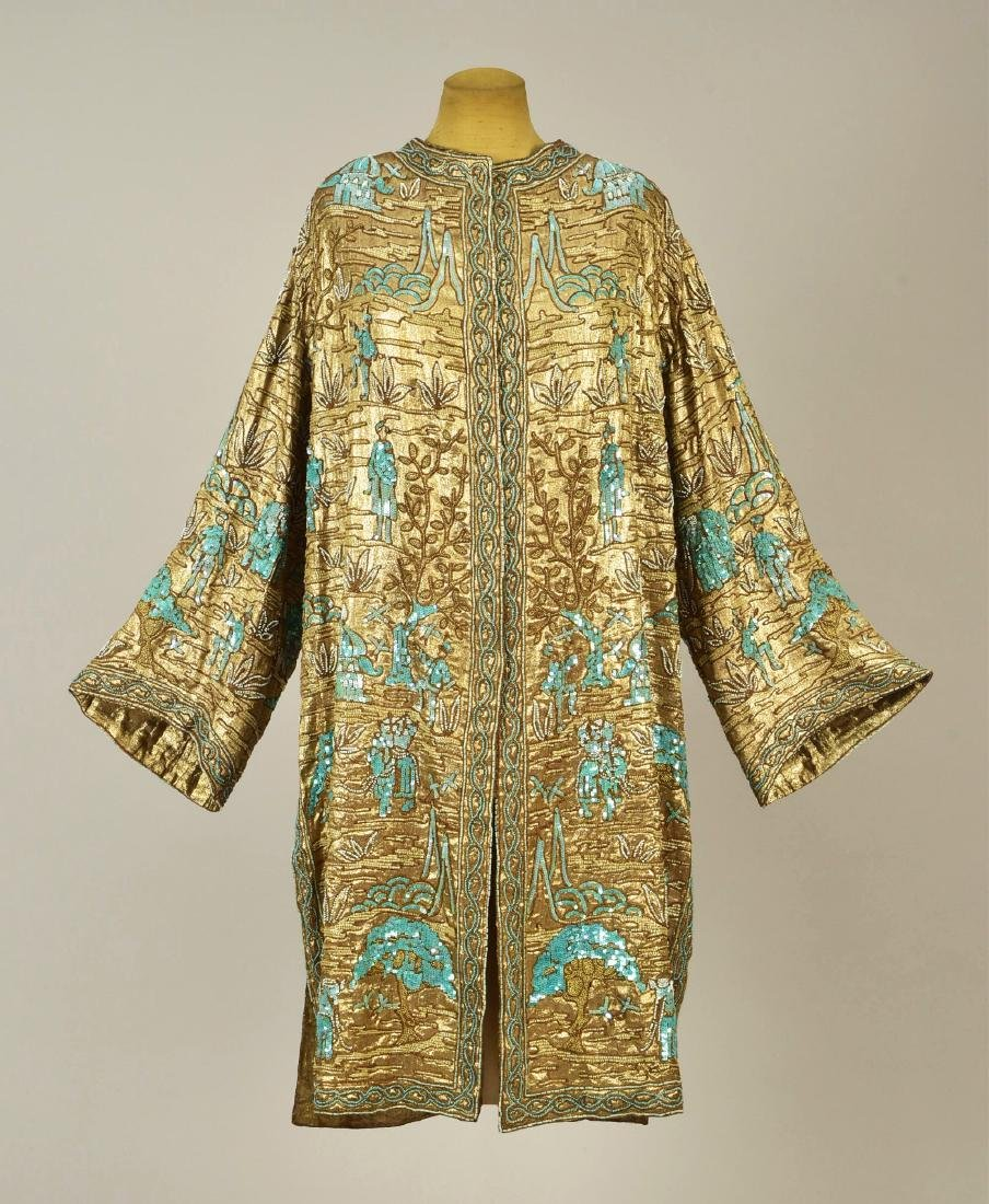 BEADED GOLD LAME COAT, 1927