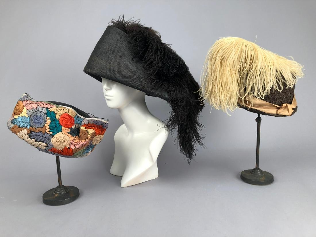 THREE ASYMMETRICAL STRAW HATS, c. 1911 - 1920 - 2