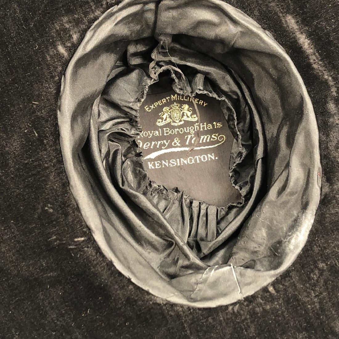 TWO BLACK VELVET WIDE-BRIM HATS, c. 1918 - 6