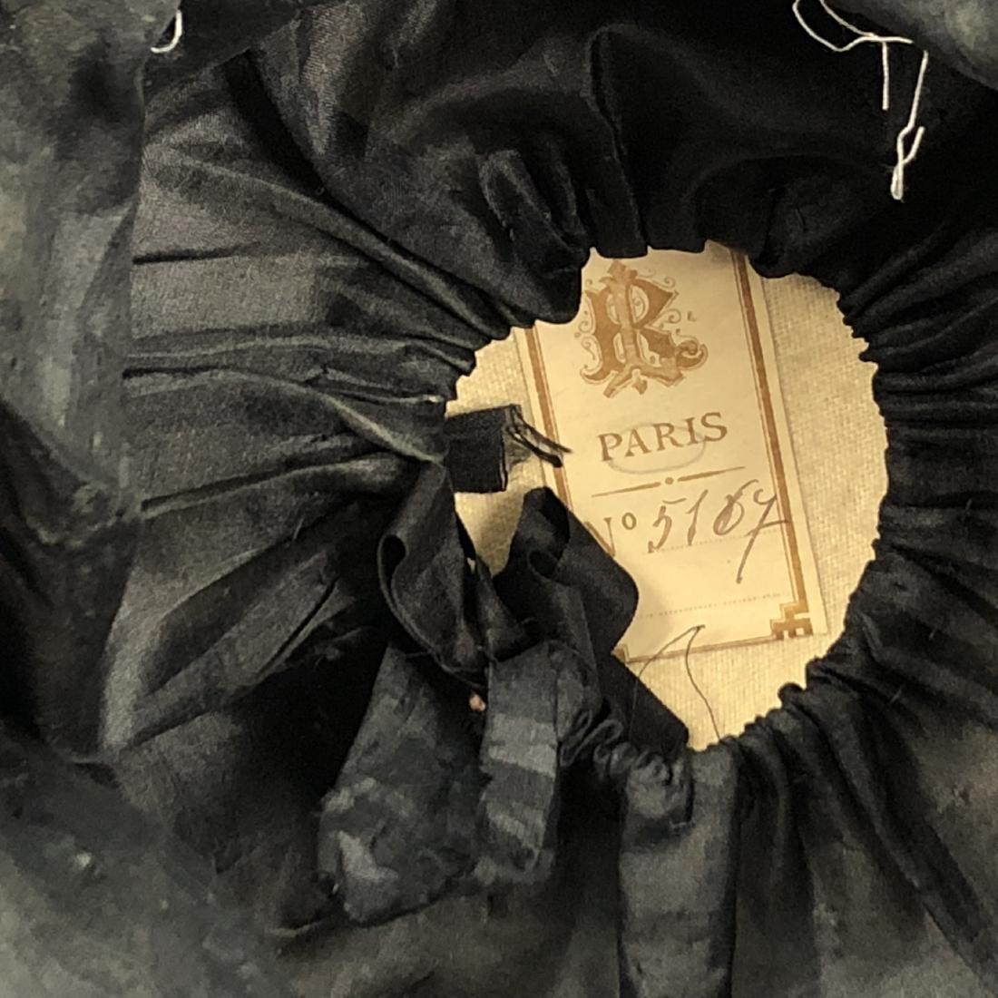 TWO BLACK VELVET WIDE-BRIM HATS, c. 1918 - 8