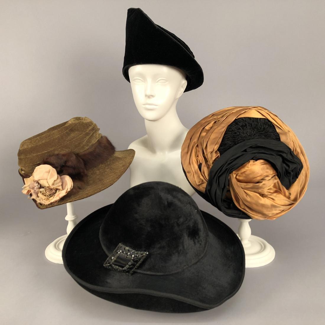 FOUR VELVET HATS, 1914 - 1918