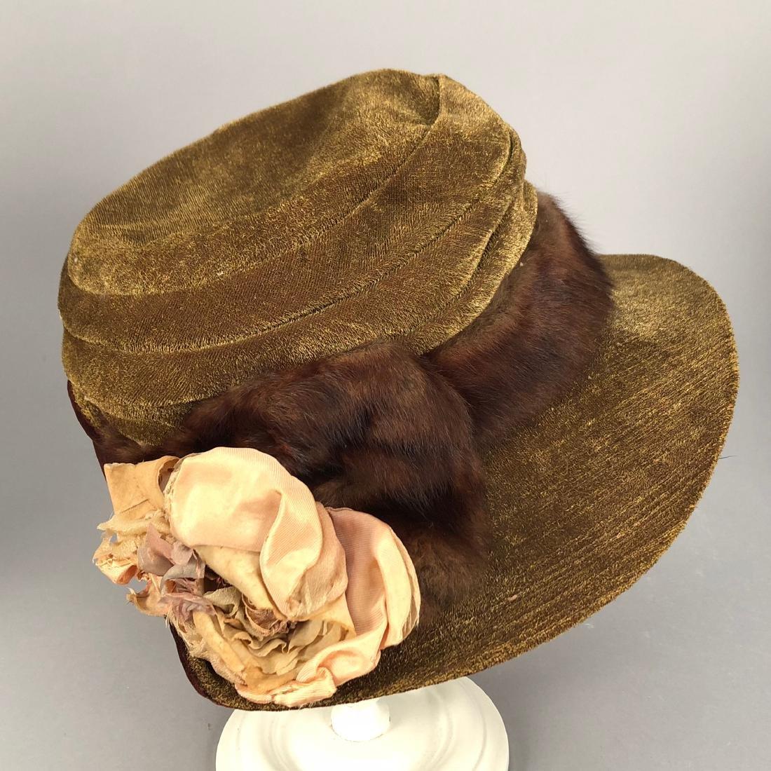 FOUR VELVET HATS, 1914 - 1918 - 2