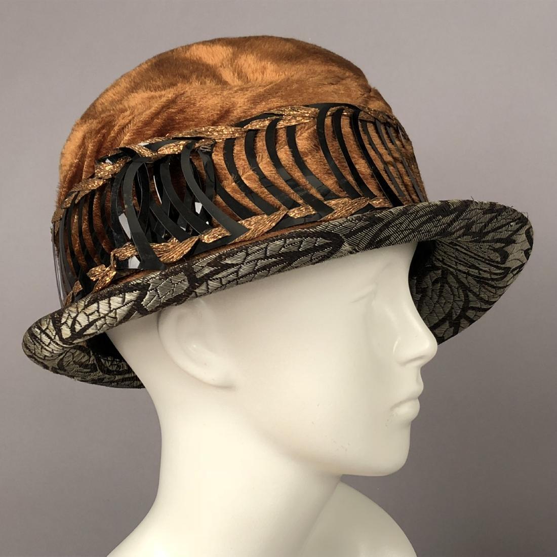 TWO LADIES' VELVET HATS, 1918 and 1920s - 2