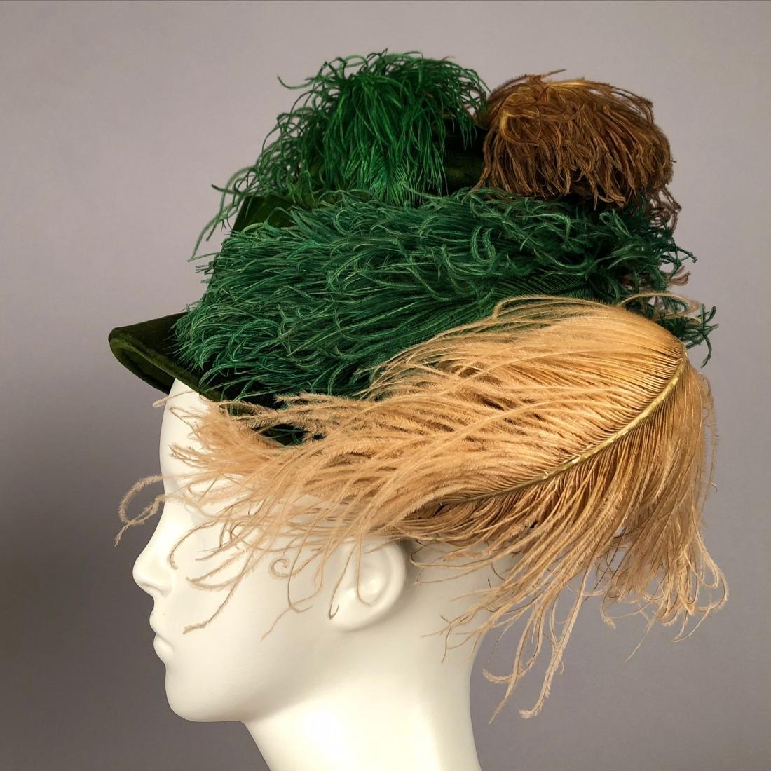 TWO LADIES' VELVET HATS, 1918 and 1920s - 3