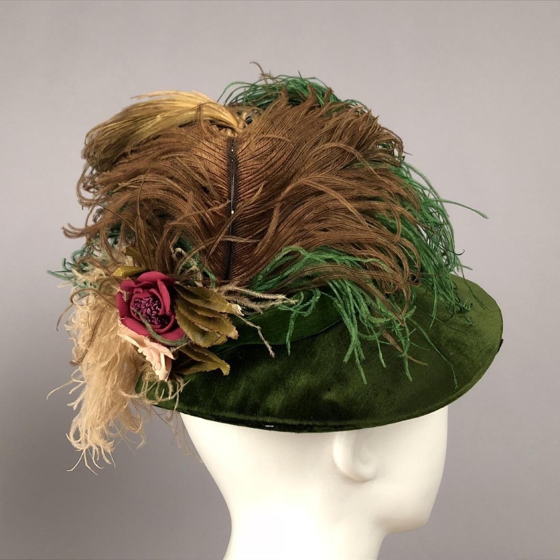TWO LADIES' VELVET HATS, 1918 and 1920s - 4