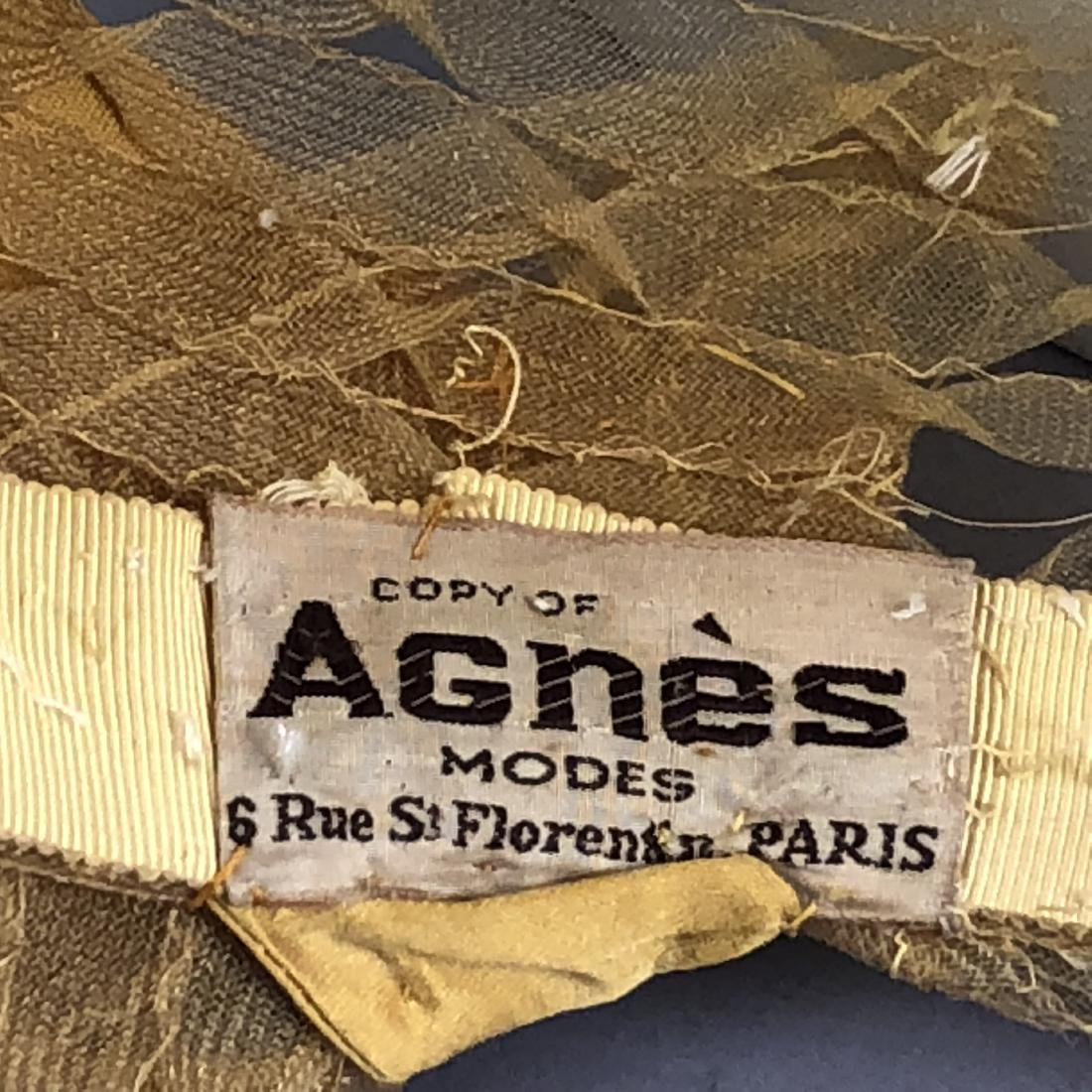 PARIS LABEL WIDE-BRIM HORSEHAIR CLOCHE, c. 1930 - 3
