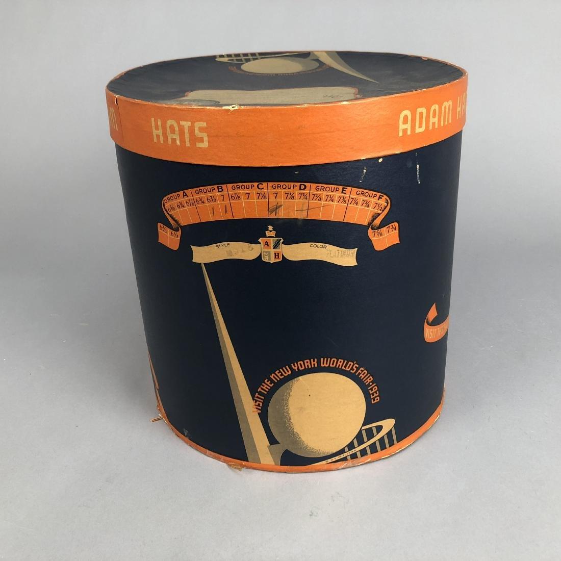NEW YORK WORLD'S FAIR HAT BOX,  1939 - 3