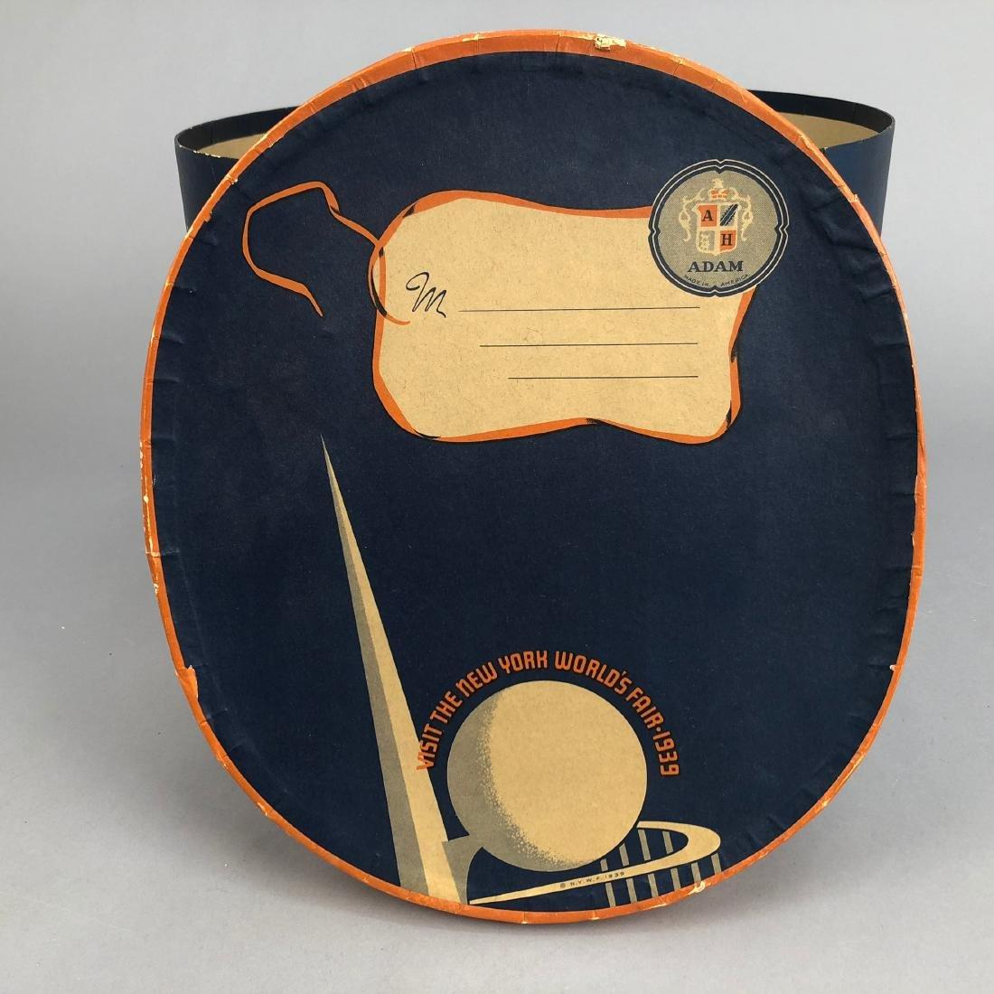 NEW YORK WORLD'S FAIR HAT BOX,  1939 - 5