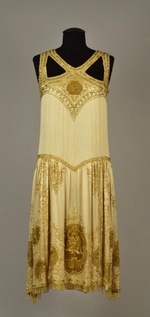 NEMSER BEADED and EMBROIDERED EVENING DRESS, 1925