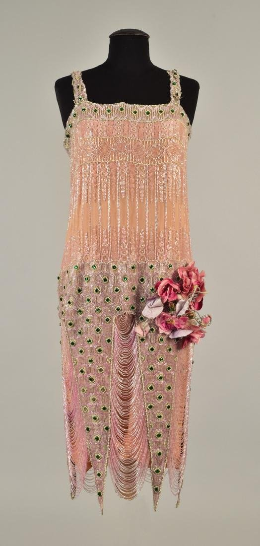 BEADED DRESS with FISHTAIL POINTS, 1926